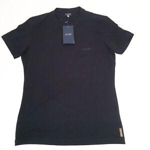 Armani Jeans Mens Nero T-Shirt Extra Large Black RRP$180 Genuine-XL Tee NWT