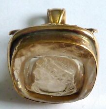 With Intaglio Carved Roman Head A Victorian Gold Tone Watch Fob