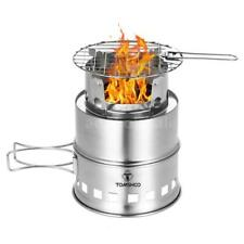 Outdoor Folding Camping Alcohol Wood Stove Stainless Portable Picnic BBQ Burner