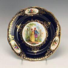 Meissen Antique Plate Cobalt Blue & Gold Cabinet Plate Excellent Condition