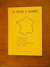SOUCHET De Paris à Tarbes La résistance des centres de pré-apprentissage 1940-44