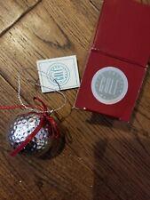 The Silver Golf Ball Rare Christmas Ornament by Prosperity Tree International Ni