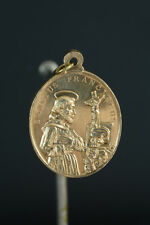 Antique Religious medal St Francis Xavier memento mori Virgin Mary Jesuit medal