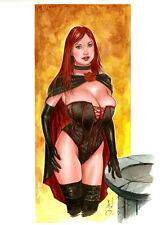 Alex Miranda BLACK QUEEN SEXY COLOR PINUP JEAN GREY PHOENIX