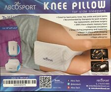 ABCOSPORT Memory Foam Knee Pillow for Side Sleepers with removable cover