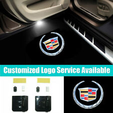 2x Car Door Welcome LED Cadlliac Logo Shadow Light for ATS CTS DEVILLE SRX XTS