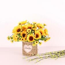 Synthetic 2 Sunflower Bouquets for Floral Flower Home Garden Decor