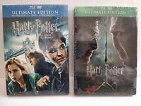Lot 2 Blu Ray HARRY POTTER Les reliques de la mort 1&2 Ultimate Edition Neuf