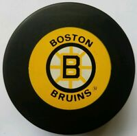 BOSTON BRUINS VINTAGE TRENCH MFG. NHL OFFICIAL HOCKEY PUCK MADE IN SLOVAKIA