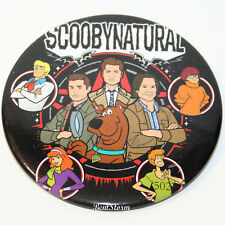 "3"" Scoobynatural Scooby Doo Dog Gang Sam Dean Castiel Supernatural Button Pin"