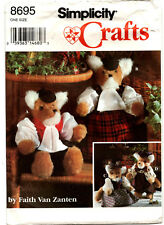 """Simplicity 8695  Stuffed 16"""" Fox  & Clothes Sewing Pattern"""