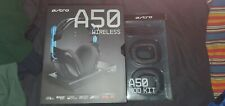 Astro Gaming A50 Gen3 Wireless Headset & Base Station w/ Leather Mod Kit PS4/PC