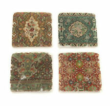 Set 4 French Shabby Chic Ceramic Tile Coasters Liberty Print Vintage Style