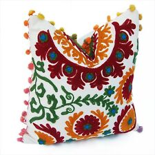 5 PCS Indian Handmade Cotton Suzani Cushion Cover Home Decoration Pillows Cases