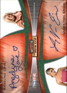 2010 TriStar TNA New Era Auto Dual Green #10 Angelina Love/Lacey Von Erich/25