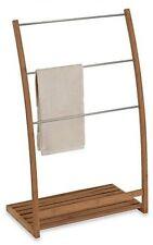 Free Standing Towel Rack Bamboo Bath Bathroom Bedroom Organization Storage NEW