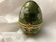 """Vintage Limoges Porcelain Faberge Imperial Egg 3"""" Tall / Hand Painted"""