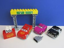 DUPLO lego DISNEY PIXAR CARS 2 lightning mcqueen sheriff holly RACE SET 20E