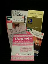 "Mixed Lot Of Seven ""Vintage"" Sewing / Crocheting Books / Leaflets/ Manuals"