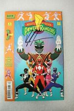 Mighty Morphin Power Rangers #1 Signed Higgins Party Variant Edition Cover  2016