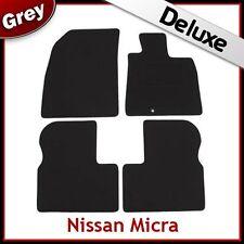 NISSAN MICRA K13 MK4 2010-2016 Tailored LUSSO 1300g TAPPETI AUTO tappetini GRIGIO