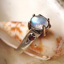 Silberring 55 Mondstein Weiß Rubin Rot Amethyst Lila Elegant Design Silber Ring