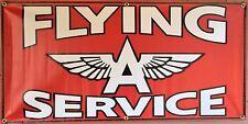 FLYING A SERVICE SIGN GAS STATION OLD SCHOOL REMAKE BANNER GARAGE ART 2 X 4