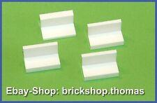 Lego 4 x Bänke Bank Paneel weiß (1 x 2 x 1) - 4865a - Panel white - NEU / NEW