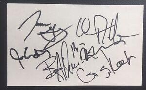 Blue Rodeo Signed 3x5 Index Card Full Band Jim Cuddy, James Gray, Bazil Donovan