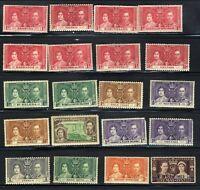 1937 British 12th May Coronation King George VI ♔ 20-Stamp Set MNH OG