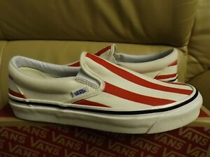 Vans Classic Slip On 9 (Anaheim Factory) Men's Size 13 Shoes Red VN0A3JEXVN2