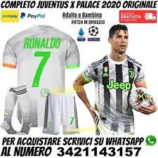 Maglia Completo Juventus Palace 2021 Ronaldo Verde Fluo Uomo Bambino Originale