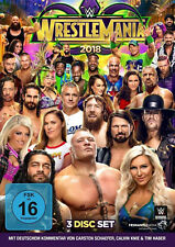 WWE Wrestlemania 34 XXXIV + Monday Night RAW 3x DVD DEUTSCHE VERKAUFSVERSION