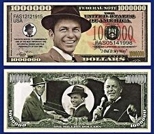 1- Frank Sinatra Dollar Bill-Blue Eyes-Music- Actor- Novelty - Collectible-Z1