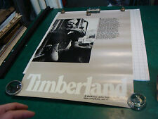 """original vintage Poster: TIMBERLAND Boots #1--22 x 34"""", from the 1980's"""