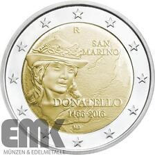 San Marino - 2 Euro 2016 - Donatello - 550. Todestag - Stgl. in Blisterkarte