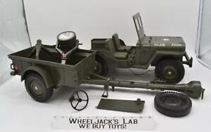 Combat Jeep 7000 Set W/ Trailer GI Joe 1965 Vintage Vehicle Action Figure