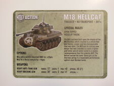 Warlord Games Bolt Action Vehicle Cards - M18 Hellcat
