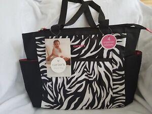 Carters Diaper Bag Zebra NWT