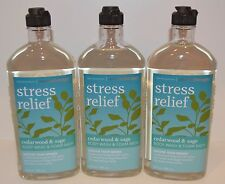 3 BATH BODY WORKS AROMATHERAPY STRESS RELIEF CEDARWOOD SAGE WASH SHOWER GEL FOAM