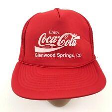Coca-Cola Trucker Hat Cap Red White Logo Snapback Adjustable Mesh Back Mens 90's