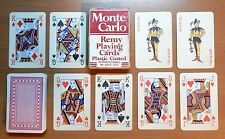 VINTAGE MONTE CARLO REMY PLASTIC COATED 54 (2 JOKERS) DECK PLAYING CARDS - p05!