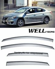 For 13-16 Nissan Sentra WellVisors Side Window Visors Rain Guard