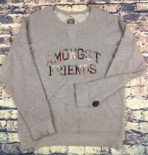 Amongst Friends Grey Spell Out Crew Neck Karmaloop Sweatshirt Large Slim