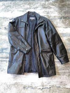 Mens Wilson Leather Coat Black Large