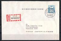 BRD, Einschreiben MiNr. 1142 EF TSt Steffenberg 21.10.1987