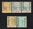 Mauritius 1902 Postage & Revenue Opt Set to 50c SG157-60 M/Mint
