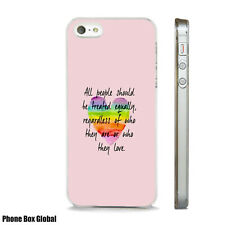 GAY PRIDE LOVE QUOTE NEW LGBT CASE FITS  IPHONE 4 4S 5 5S 5C 6 6S 7 8 SE PLUS X