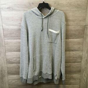 Union Bay Mens Size 2XL Grey/Edge French Terry Pullover Hoodie Sweatshirt NWOT