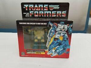 Vintage Hasbro 1985 Transformers G1 Jumpstarter Topspin New In Box NRFB Mint E2